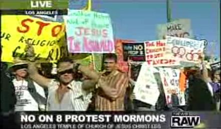 prop 8 protest mormon temple santa monica blvd los angeles