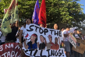 Some Of LA's Filipino Catholics Call For An End To Duterte's Brutal Drug War