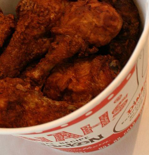 A bucket of Dinah's Chicken