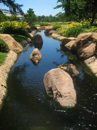 A stream in the Japanese Garden
