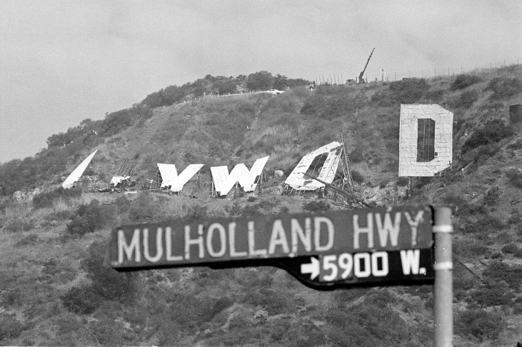 The Hollywood Sign Was Torn Down 40 Years Ago And Completely Replaced: LAist