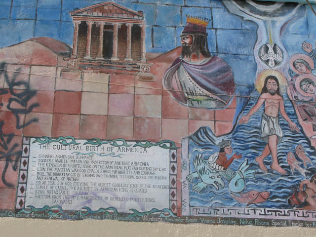 mural of the history of Armenia