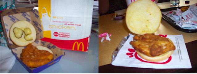 McDonald's Southern Style Chicken Sandwich vs. Chick-Fil-A Sandwich
