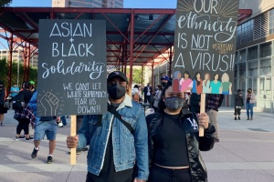 Hundreds in LA Rally Against Asian Attacks, Call For Solidarity