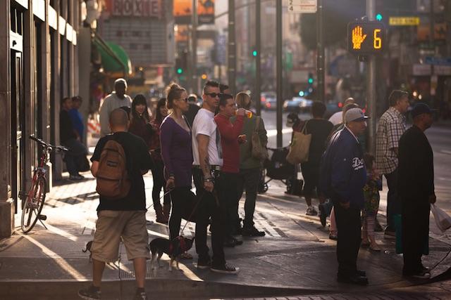 jaywalking i California ungdoms blåse jobb rør