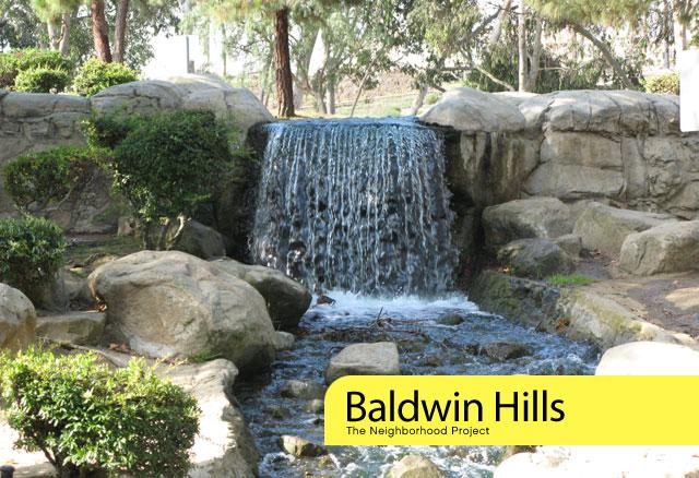 waterfall in Kenneth Hahn SRA