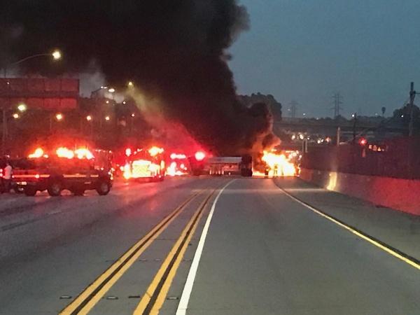 A Fiery Fatal Crash Shut Down Part Of The 105 Freeway In Hawthorne