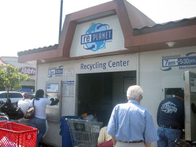 Recycling In NoHo happens in the Ralphs parking lot.jpg