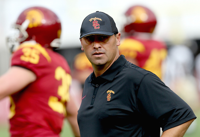 Usc Head Football Coach Fired After Reports Of Drinking Problem Laist