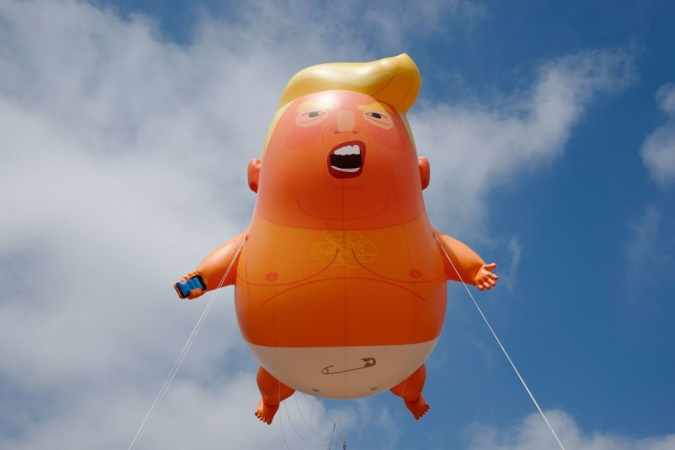 That Giant 'Baby Trump' Balloon Is Flying Over DTLA Freeways This Morning