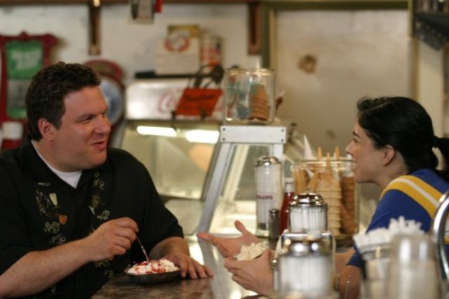 Jeff Garlin and Sarah Silverman
