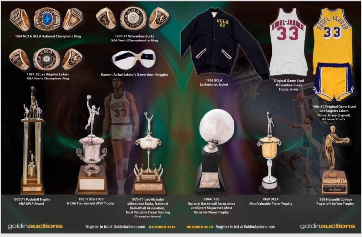 Some of the items being auctioned off by Kareem Abdul-Jabbar. (Courtesy Goldin  Auctions) 1bdc41c5b