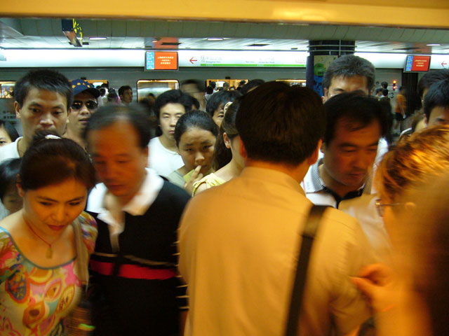 Shanghai's busy subway system