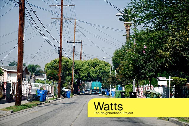 Hey it's Watts, a Los Angeles Neighborhood