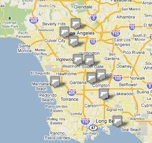 Mapping Rap Lyrics in Los Angeles: LAist on