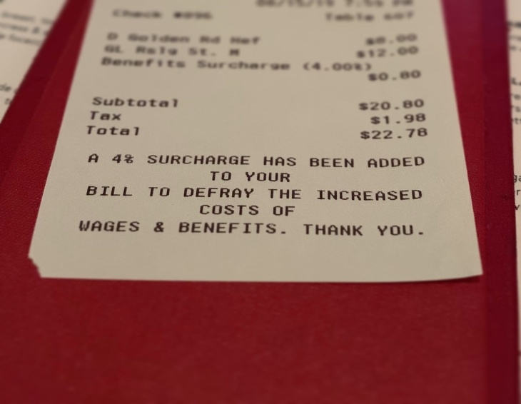 If A Restaurant Adds A Surcharge Do I Still Have To Tip Laist