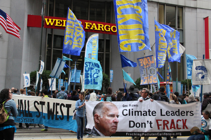 Jerry Brown Is Getting Heckled At His Own Climate Conference