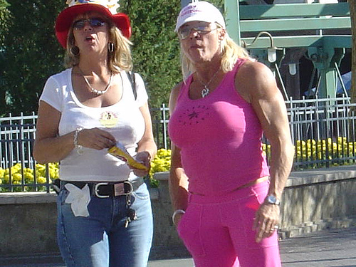 pink roids lady