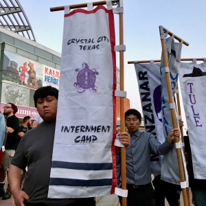 In LA's Little Tokyo, Japanese Americans Protest 'Modern-Day Concentration Camps'