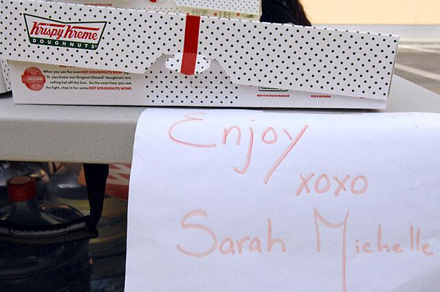 Krispy Kreme Doughnuts from Sarah Michelle Gellar