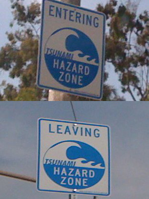 Tsunami Warning Signs Pop Up Along Coast: LAist