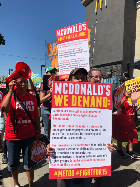 'Don't Grab Workers': McDonald's Employees Walk Out Over Toxic Male Behavior