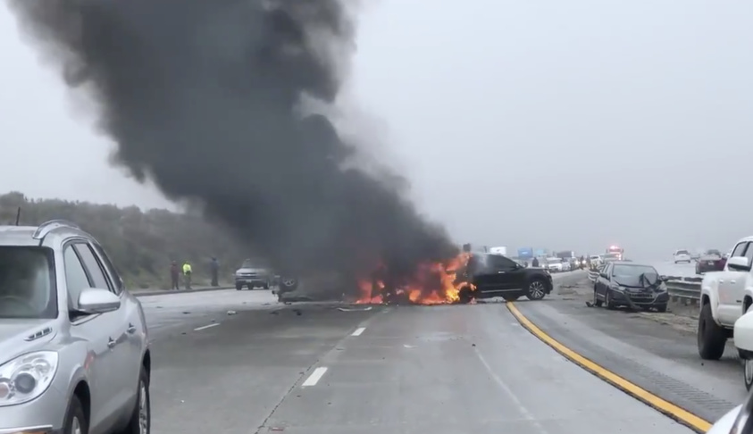 Massive Crash On The Grapevine Closed I5 For Hours