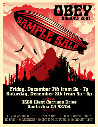 Obey / Giant Sample Sale