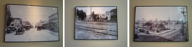 Historical photos of North Hollywood on display inside the new Coffee Bean at the Commons