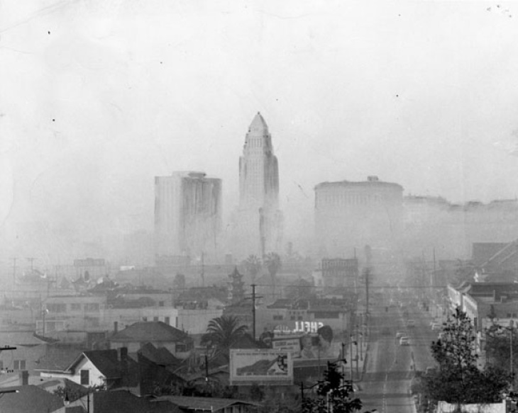Happy 75 Years Of Smog, LA. We Dont Wear Gas Masks