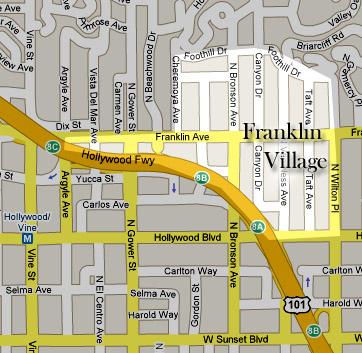 Franklin Village map