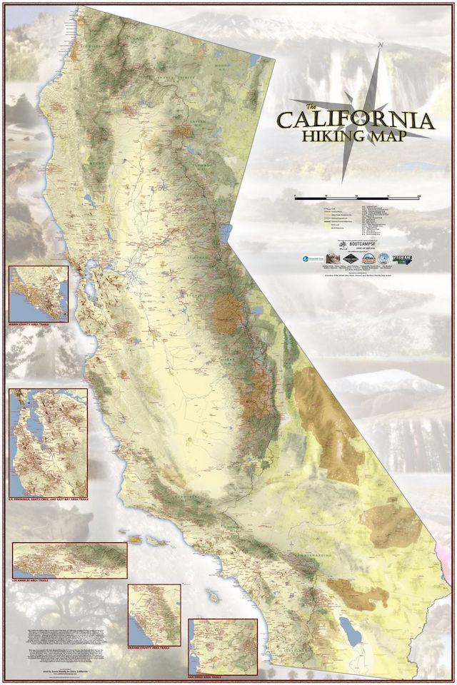 This Huge Map Will Show You Almost Every Hiking Trail In California