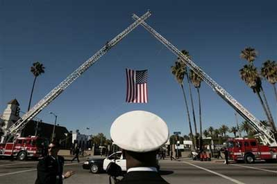 Procession for LAPD SWAT Officer Randal Simmons