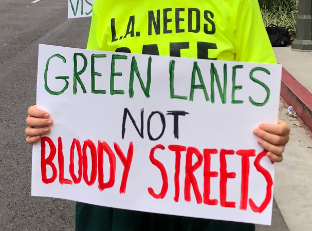Protesters Say Mayor Garcetti Hasn't Delivered Safer Streets For Cyclists