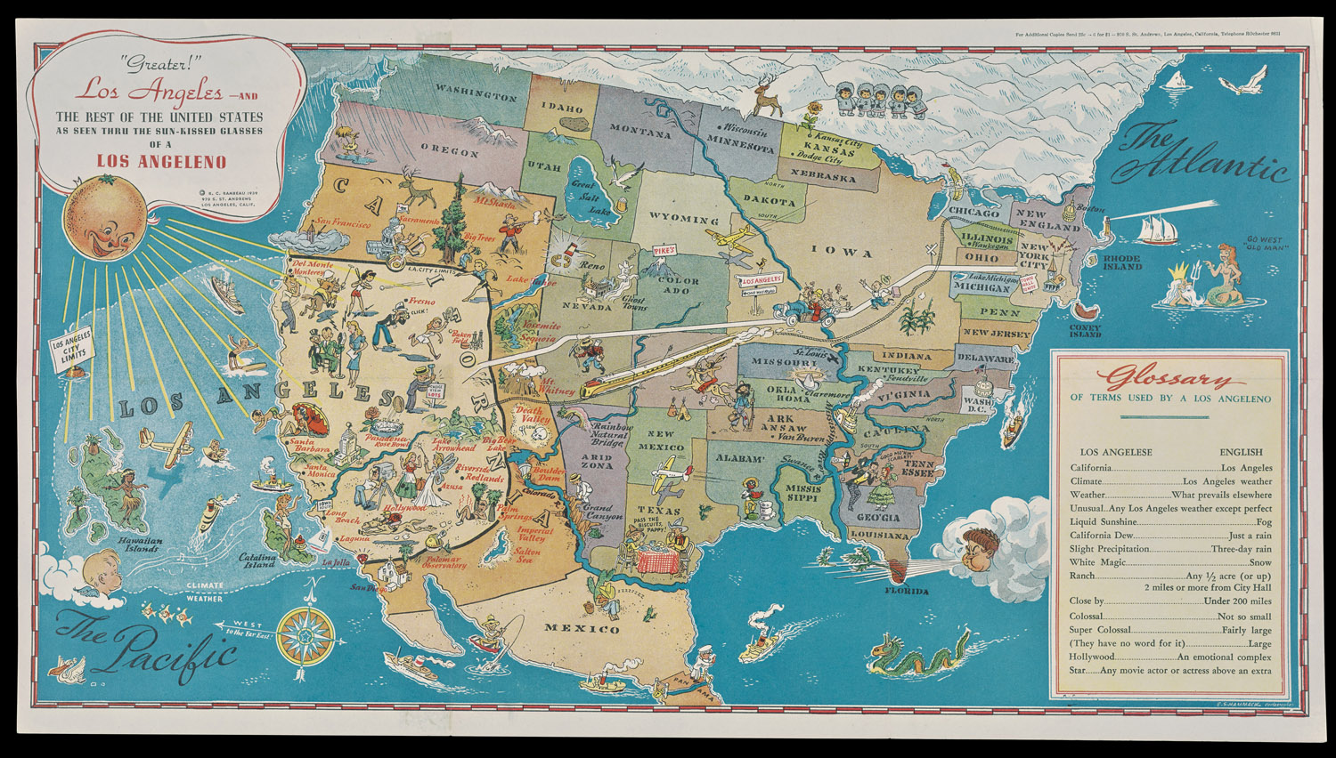 This 1939 Map Shows America, As Seen Through The Eyes Of An ... Map Greater Los Angeles on map greater tacoma, map long beach, map hollywood, map bay area, map greater nashville, map bangkok tourist attractions, map inland empire, map greater denver, greater toronto area, map san francisco, map new york, map greater boston, map anaheim, map santa monica, atlanta metropolitan area, map beverly hills, inland empire, los angeles metropolitan area, dallas/fort worth metroplex, map santa barbara, seoul national capital area, map san gabriel valley, baltimore–washington metropolitan area, new york metropolitan area, greater houston, map salt lake city, map south orange county, map minneapolis, greater tokyo area, map silicon valley, los angeles county, san diego metropolitan area, orange county,