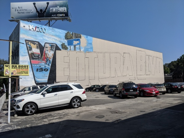 Why Jonas Never's Ventura Boulevard Mural Is Just A 'V' -- And Faces An Uncertain Fate