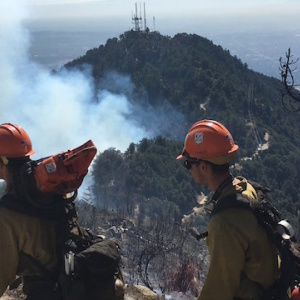 Fire Near Mt. Wilson Observatory Remains At 30 Acres, Now 10% Contained