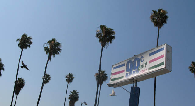 99 cent store on Sunset Blvd