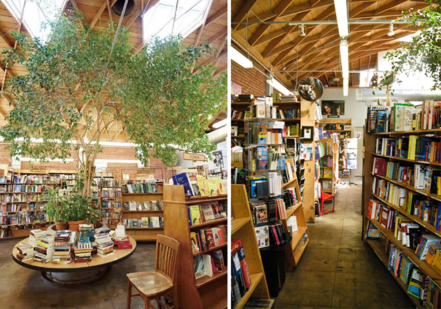 photo on the left by skylight books via facebook photo on the right by kent kanouse via the creative commons on flickr - Bookshelves For Bookstores
