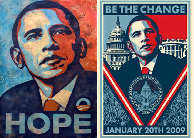 Obama Inaugurate and Hope Posters