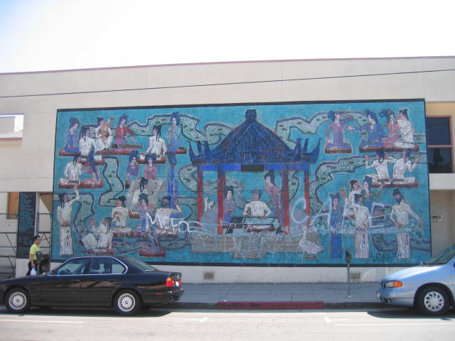 This mural, meant to help beautify the community, is in need of some beautification itself