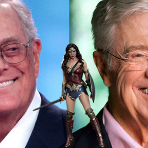 The Koch Brothers Secretly Helped Finance 'Wonder Woman' And Other WB Movies