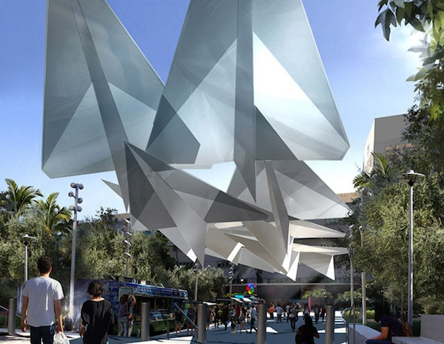 A Huge Paper Airplane Sculpture Will Soon Provide Shade At