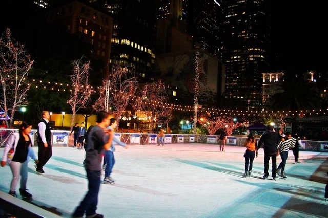 Where To Go Ice Skating Outdoors In L.A. This Season