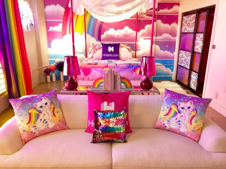 Light Up Unicorn Cushion Magical Fantasy Rainbow Coloured Bedroom Pillow Poison