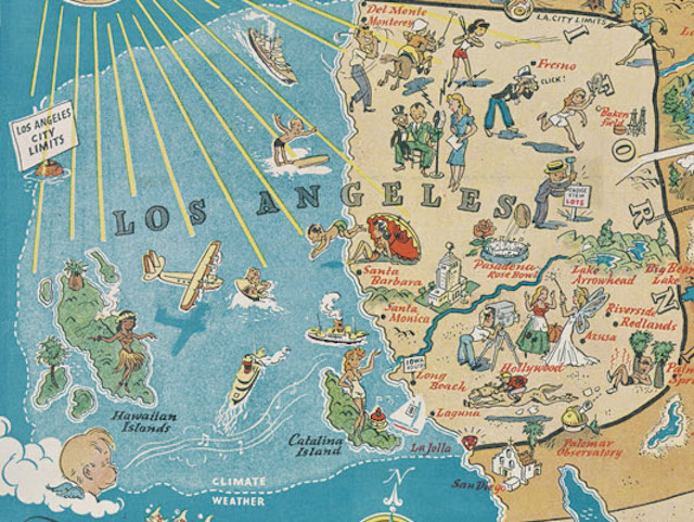 Map Of America Los Angeles.This 1939 Map Shows America As Seen Through The Eyes Of An Angeleno