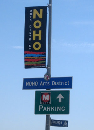 The CRA's NoHo Arts Banners hang on major thoroughfares in the neighborhood