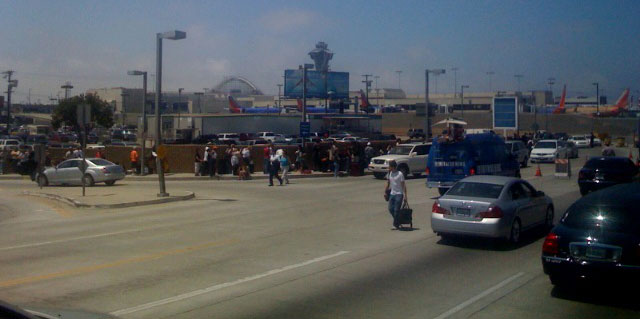LAX shut down due to bomb terrorist threat