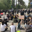 Black Lives Matter Employed Non-Violent Resistance At The Mayor's House. LAPD Backed Off