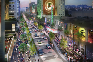Here's What Hollywood Boulevard Could Look Like With Less Space For Cars And More Space For Humans